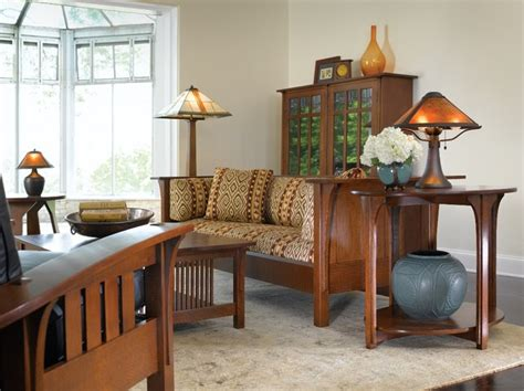 craftsman style living room furniture mission collection stickley furniture craftsman