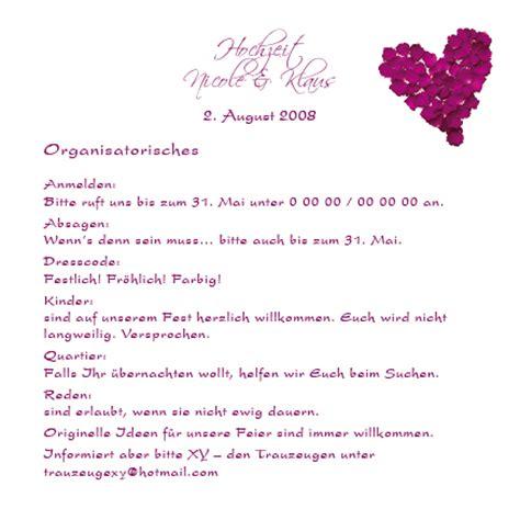 Hochzeitseinladung Unterkunft by Altarfalz Einlagekarten Rosenbl 228 Tter Violett