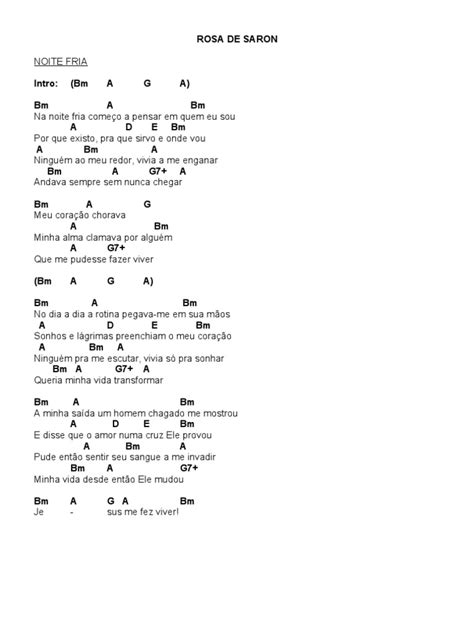 Cifras Rosa de Saron