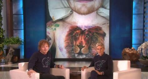 ed sheeran lion tattoo image ed sheeran leo sigh