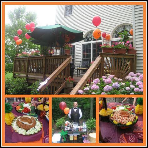luau backyard party ideas graduation party food showcase hokie luau graduation party party and