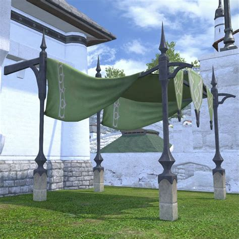oasis awning oasis awning ffxiv housing exterior decoration