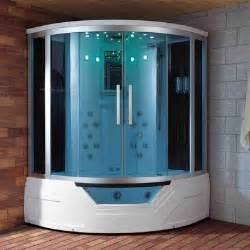 59 inch steam shower with whirlpool bathtub combo unit by