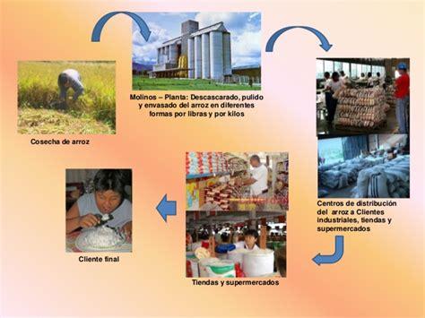 cadena productiva arroz cadena de suministro del arroz
