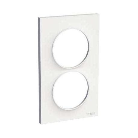 radiateur rayonnant 1798 plaque de finition blanc 2 postes vertical odace schneider