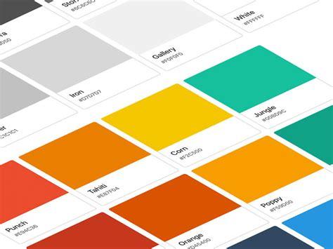 flat color palette sketch freebie free resource