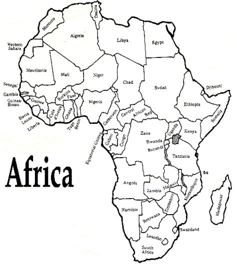 printable african art printable african map with countries labled free