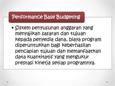 Performance Measurement Ukuran Kinerja 23 penyusunan anggaran