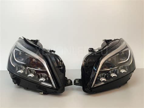 mercedes led headlights mercedes benz cls class c218 lci 2014 full led headlights