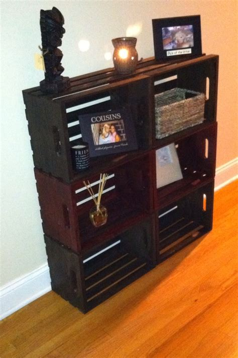 bookcase out of crates finally using my