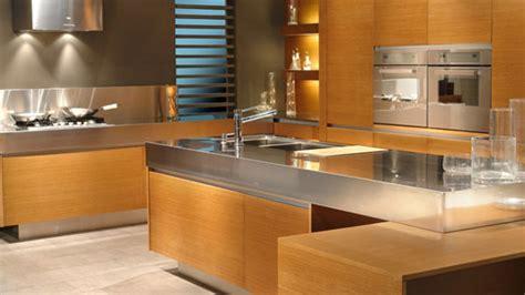 cocinas  hermosa cubierta de acero inoxidablebalt muebles  medida muebles de cocinas