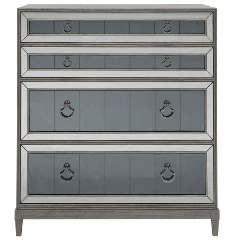 grey dresser and nightstands terrence hollywood regency grey smoked mirror nightstand