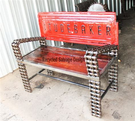 recycled car parts  vintage benches gift ideas