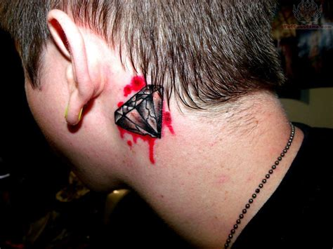 ear tattoos for men bleeding ear