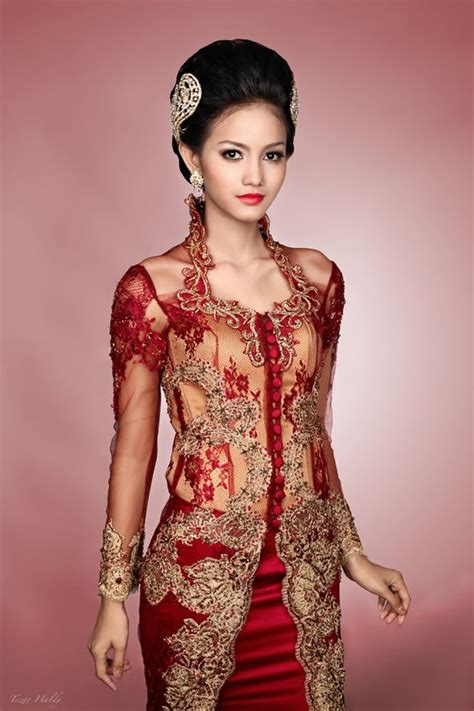 Dress Batik 04 Merah costume planet kebaya traditional clothing of malaysia