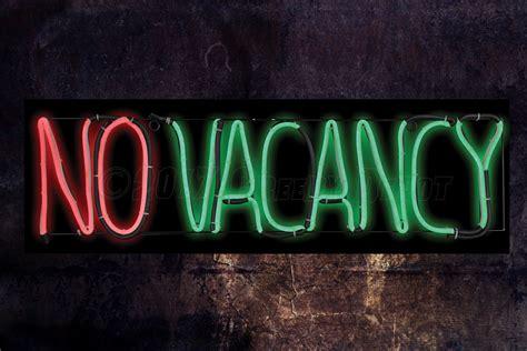 vacancy neon type led sign  creepy depot