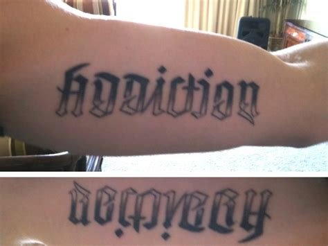 addiction tattoos quot addiction quot quot recovery quot future ideas