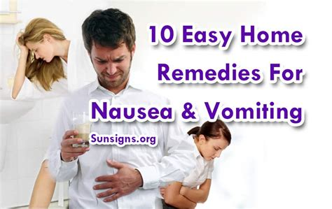 Home Remedies For Vomiting And Nausea by 10 Easy Home Remedies For Nausea Vomiting 187 Sun Signs