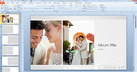 Wedding Album Templates Free free wedding photo album template for powerpoint 2013 powerpoint presentation