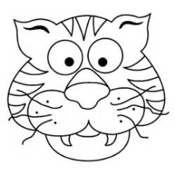 Tiger Template Printable by Tiger Mask Coloring Page Free Printable Coloring Pages