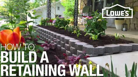 build  retaining wall youtube