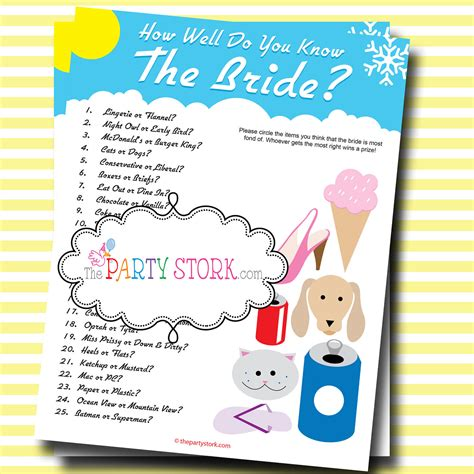 best bridal shower who knows the best bridal shower printable many