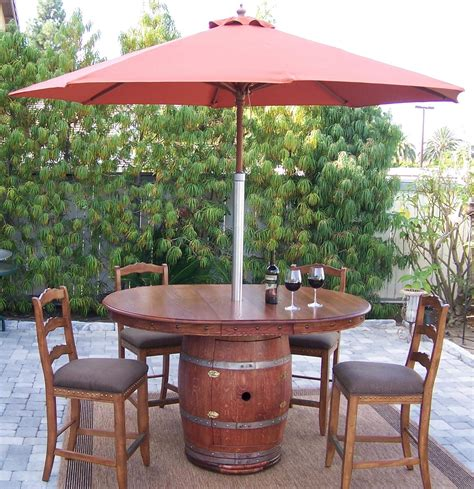 38 Best Reusing Old Wine Barrel Ideas And Designs For 2017 Wine Barrel Patio Table