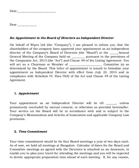 advisory board appointment letter template appointment letter advisory board 28 images