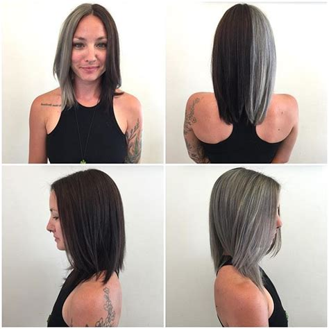 how to dye the top half of your hair best 501 half half dyed hair 5 images on pinterest
