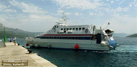 catamaran ferry nona ana from dubrovnik to korcula catamaran ferry nona ana g v line croatia ferries