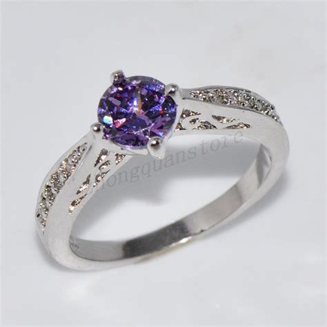 size 6 10 s purple amethyst engagement ring