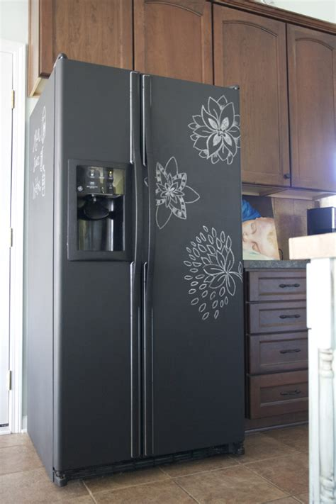 chalkboard paint on fridge chalkboard paint refrigerator lovely the