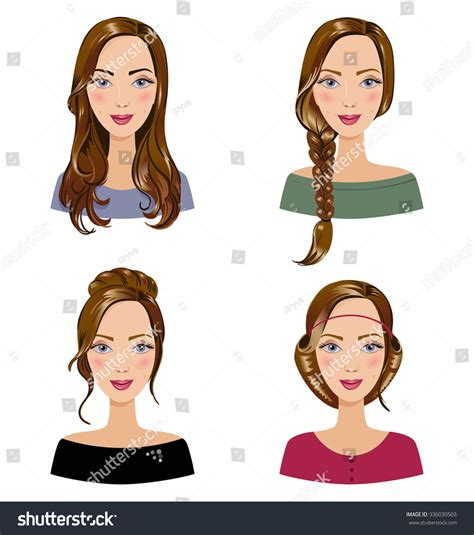 diffetent types of the sthandaza hairstyles different types of female hair styles set of beautiful