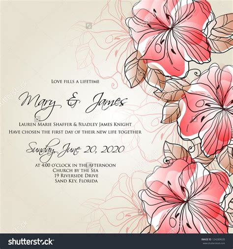 Vector Backgrounds With Roses For Invitations wedding card or invitation with abstract floral background greeting postcard in