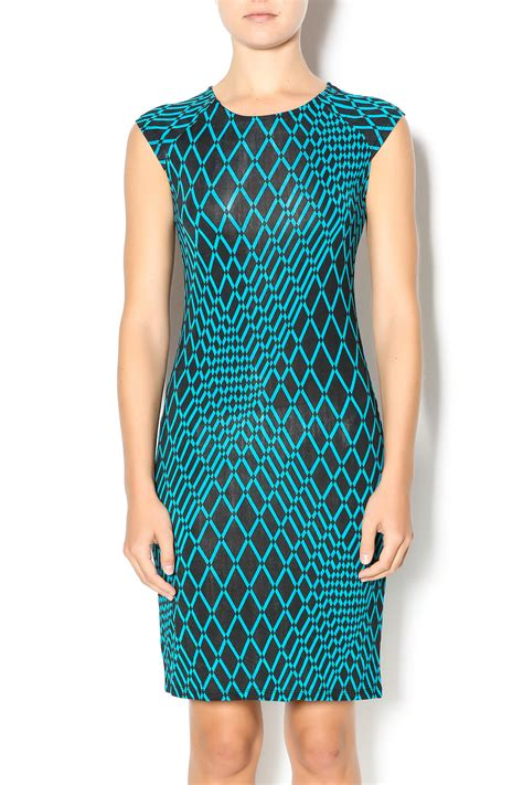Geomatric Graffiti Printing S M L Xl Dress 30509 mt collection geometric print dress from california by the clothes mine shoptiques