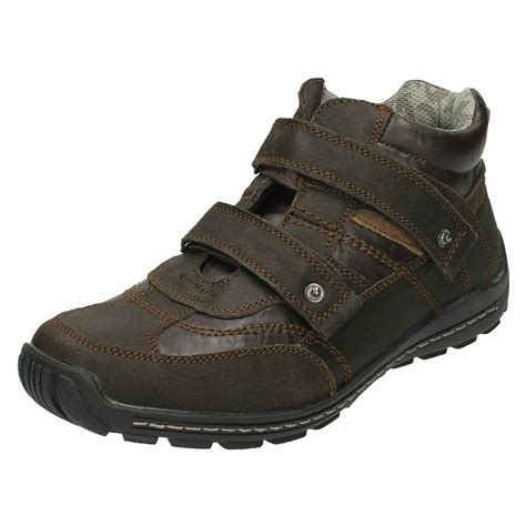 mens boots velcro mens spot on casual velcro boots ebay