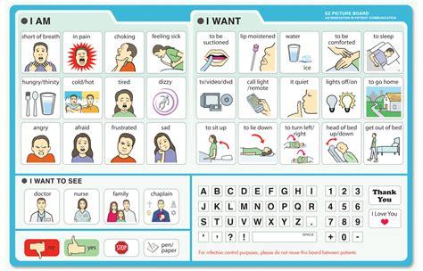 Patient Letter Board e z picture communication board