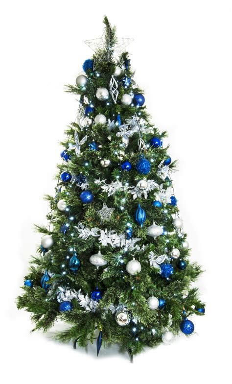 tree blue and silver width live tree silver and blue green