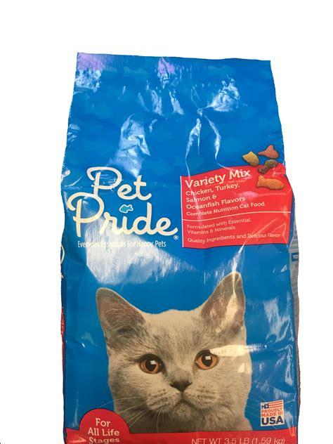 pet pride food pet pride variety mix chicken turkey salmon oceanfish flavors cat food more