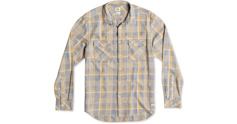 Quiksilver Tang Titan Flannel quiksilver tang titan flannel plaid acid wash shirt in purple for lyst