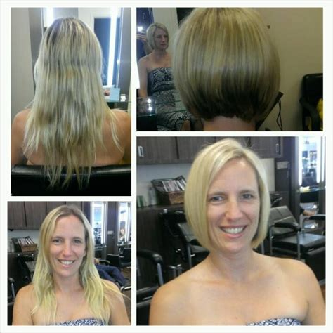 before and after of straight short bob to bridal hair 17 best images about echelon salon hair on pinterest