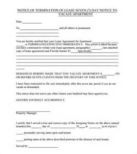 Notice To Vacate Commercial Property by 24 Free Eviction Notice Templates Excel Pdf Formats