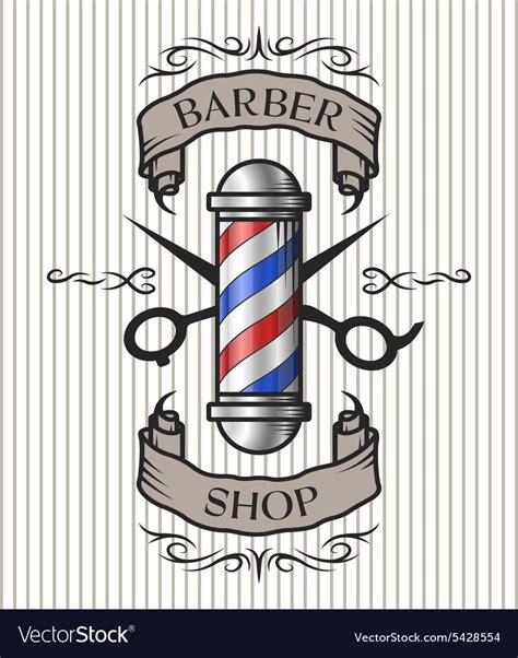 retro barber shop vintage template royalty free vector
