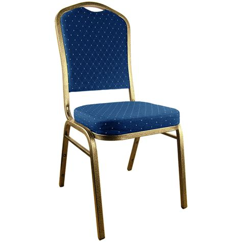 navy blue patterned crown back banquet chair goldvein