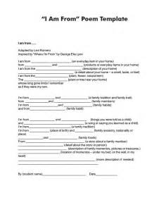 where i am from poem template handout of quot i am from quot poem template poetry