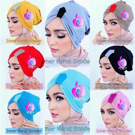 Aisiyah Syari New Series Warna Fuschia daleman jilbab inner serut scoder apple pusat
