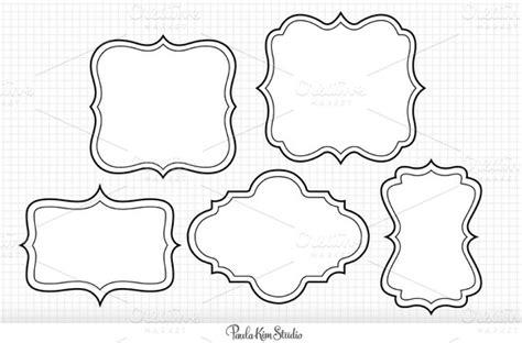Free Label Download Black Swirl Clear Background 187 Designtube Creative Design Content Label Border Templates