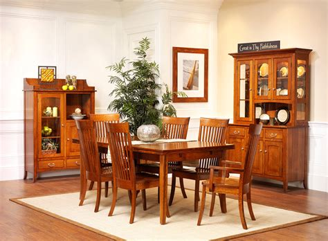 english shaker dining room amish furniture designed