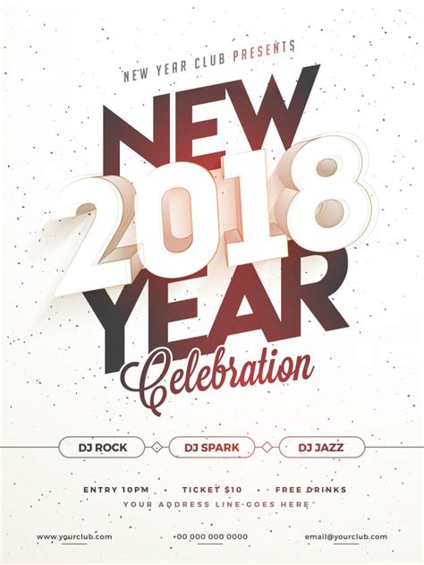new year poster 2018 happy new year 2018 poster banner or flyer design