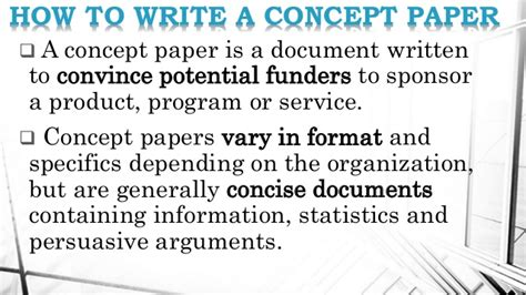 concept paper template types of business plan